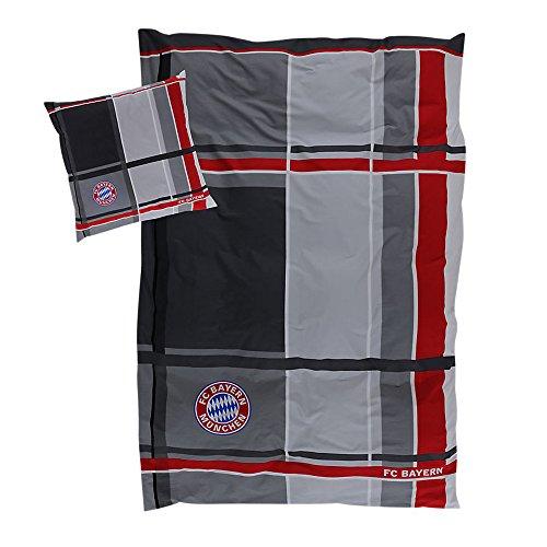 Bettwäsche-paket (FC Bayern Bettwäsche Karo 135x200cm 80x80cm)