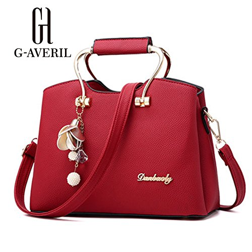 G-AVERIL, Borsa a mano donna rosa Pink Red Wine