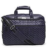 Brune Leather Blue Laptop Bag for Men