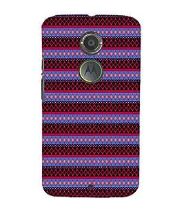 EPICCASE spiral diamonds Mobile Back Case Cover For Moto X 2nd Gen (Designer Case)