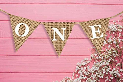 Thema Girlande décor-first Geburtstag burlap- Shabby Chic Geburtstag banner-cake Smash Foto prop- Elegante Hochstuhl Sackleinen Banner (Kunst Birthday Party Supplies)