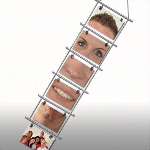 GYD Fotoleiter für 6 Fotos 10 x 15 cm Foto Kartenhalter Fotohalter Kartenleiter Fotoleiter Leiter Strickleiterm