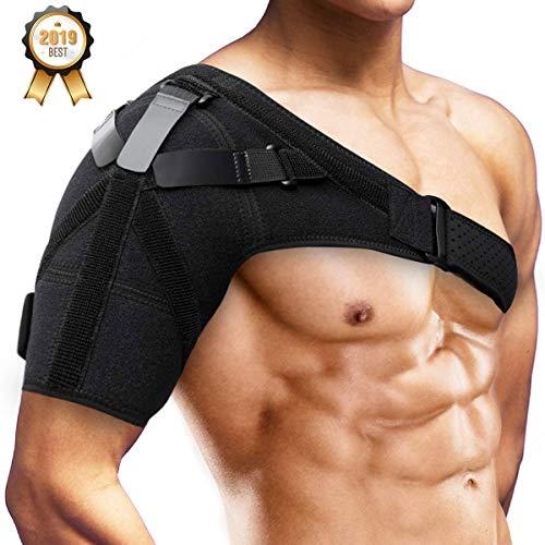 Schulterbandage Schulter Unterstützung Bandage Verstellbare, SGODDE für Verletzungen,Schulterschmerzen, arthritische Schultern, Neopren Schulterwärmer, für Linke/Rechte Schulter, Männer/Frauen -
