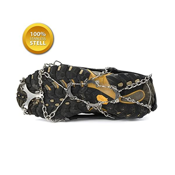 SehrGo Unisex multifunción alfombrilla antideslizante para botas de suela de clavijas hielo Grips tracción crampones cadena Spike 1 par 8