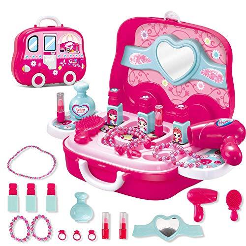 Aishankra Küchenspielzeug, Rollenspiel-spielset-Spielzeug Kinder So Tun Als Ob Arbeitnehmer Arzt Koch Maskenbildner Werkzeug Kit Set Kinder Kleinkinder Ab 3 Jahren,Makeup (Die Halloween-make-up Kaufen Besten Zu)