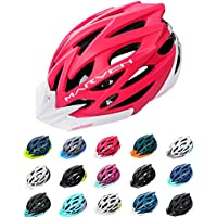 meteor Cycle Helmet MTB Bike Bicycle Skateboard Scooter Hoverboard Helmet For Riding Safety Lightweight Adjustable Breathable Helmet for Men Women Kids Childs With Detachable Visor MARVEN