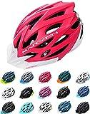 meteor® Marven Fahrradhelm Herren Damen Kinder-Helm MTB rollerhelm Kinder-fahrradhelm für Downhill rennradhelm Mountainbike skaterhelm BMX fahradhelm Scooter(L (58-61cm), Koralle Weiß)