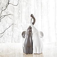 purelifestyle, gyp006, set di 2elefanti innamorati scultura statuetta decorativa altezza 25,5cm regalo di Natale regalo San Valentino, regalo di compleanno Regalo di nozze