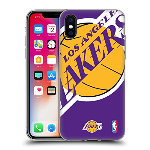 Ufficiale NBA Camouflage Digitale Los Angeles Lakers Cover Morbida In Gel Per Apple iPhone 6 / 6s Icona Oversize