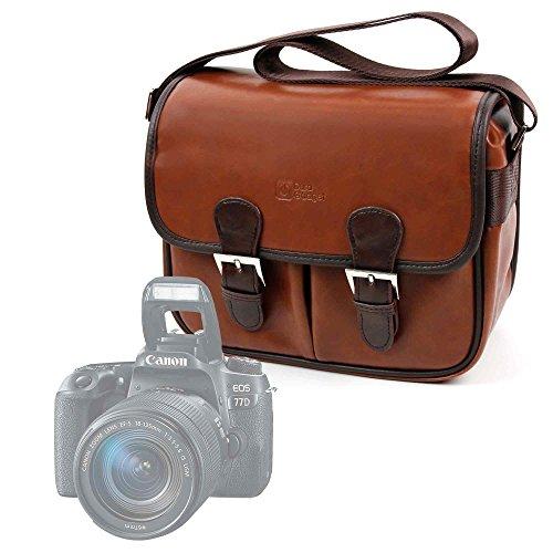 Galleria fotografica DURAGADGET Borsa Vintage Per Fotocamere Reflex Canon SLR EOS 77D   EOS 200D   Nikon Camera SLR D5600   D300   D810   Polaroid iX6038 - Con Tracolla Regolabile - Alta Qualità
