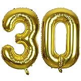 Ouinne Fête Ballons D'hélium Foil NO.30, 40 Pouces Articles de Ballon 30 Ans pour Anniversaire de Mariage...