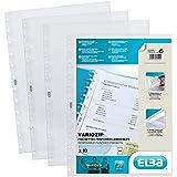 Elba Sachet de 10 pochettes Variozip détachables et repositionnables en polypropylène Incolore A4
