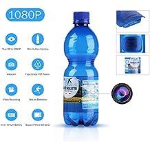 SANNCE 1080P HD Cámara oculta espía botella de agua (grabación de vídeo de agua potable botella de movimiento activado cámara de seguridad 180mins grabación Soporta tarjeta 64G TF Detección de movimiento)