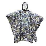 Pixnor Multifunktionale Kapuzen Regenmantel Poncho Regenkleidung Für Klettern Wandern Camping