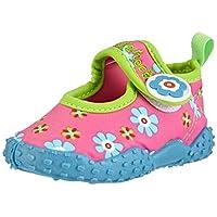 Playshoes GmbH Unisex Kids UV Protection Aqua Flowers Walking Baby Sandals, Pink (Pink/Blue 060), 4 Child UK(20/21 EU)(4.5 US)