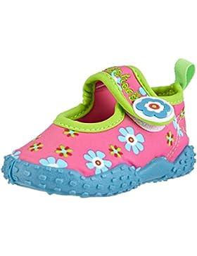 Playshoes Aquaschuhe, Badeschuhe Blumen Mit Höchstem UV-Schutz Nach Standard 801 - Escarpines Para Niñas