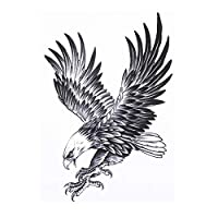 BESTPICKS Large Waterproof Fashion Temporary Tattoo Decal Sticker- FALCON- 14.5 X 21 cm Sheet
