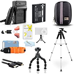 Advanced Accessory Kit For Olympus TOUGH TG-2 iHS TG-3 TG-4 Waterproof Digital Camera Includes Replacement LI-90B LI-92B Battery + Charger + Case + FLOAT STRAP + 57 Tripod + More