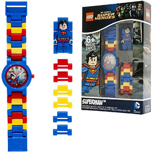 Reloj infantil modificable con figurita de Supermán de LEGO DC Comics Super...