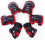 Meta-U Set Schutz für Kinder beim Rollschuhfahren (2 Ellenbogenschützer + 2 Handgelenkstützen + 2 Knieschützer), 6-teilig