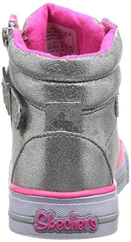 Skechers - ShufflesHeart & Sole, Sneakers per bambine e ragazze Argento(Silver (SIL))