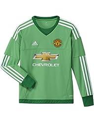 adidas MUFC H GK JSY Y - Camiseta para niño, color verde / blanco, talla 164