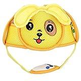 Casco Protector de Cabeza de Bebé Gancho ligero y lazo Casco de seguridad Casco protector de la cabeza anticolisión para caminar (Yellow Puppy)