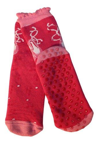 Weri Spezials Kinder Voll Frotee Noppen ABS Socke Tanzschuh Motiv in Pink, Gr.27-30 (5-6 Jahre)