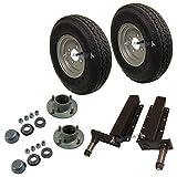 """500kg Trailer Suspension Units Hub Bearing 4""""PCD 4 Stud Wheel Tyre 400x8"""" 4PLY"""
