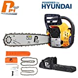 Best Chainsaws - P1PE P6220C 62cc/20 Hyundai Powered Petrol Chainsaw, Orange Review