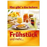 net-xpress® Werbeplakat für Frühstück-Werbung für Bäckerei DIN A1, Plakat Poster
