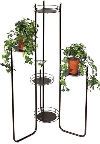 DanDiBo Blumentreppe Metall 102 cm Blumenständer mit 3 Ablagen Art.4A Blumenregal Blumensäule Pflanzenständer Pflanzentreppe