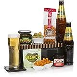 Würziges Bier-Geschenkkorb für Ihn - Bierkörbe & würzige Snacks in einer cleveren Geschenkbox