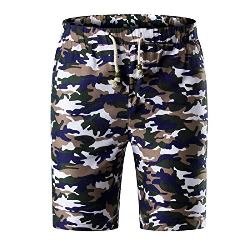 Men's Casual Camouflage Thin Masculino Beach Shorts MidnightBlue