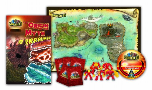 Gormiti Toy - Starter Pack Series 1 Exclusive Volcano Tribe - Lava Figure Playset