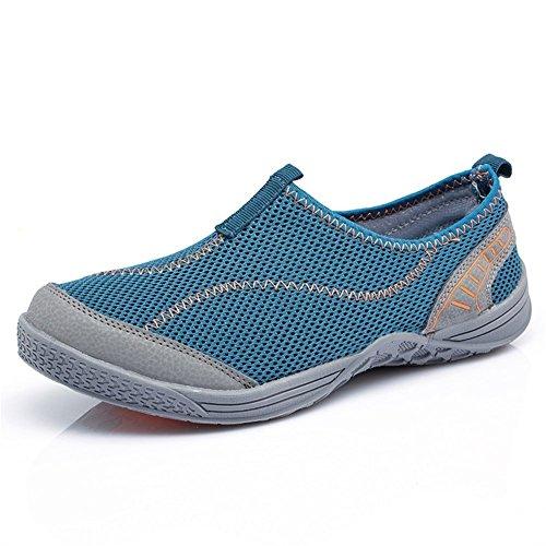 Eagsouni® Aquaschuhe / Wasserschuhe / Strandschuhe / Surfschuhe / Badeschuhe für Herren Blau