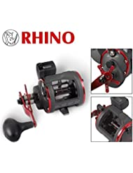 Rhino Trolling Multi rollo con cuerda contador 430LH/izquierda mano de acabado
