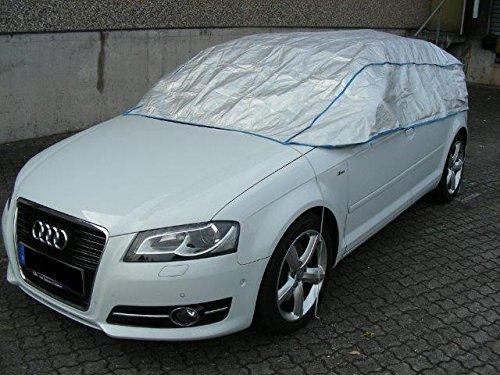 Preisvergleich Produktbild Teilabdeckung Autoabdeckung Auto Plane Garage Audi A3 Cabrio ab 2014 in silber exclusiv aus Tyvek mit Lagerbeutel