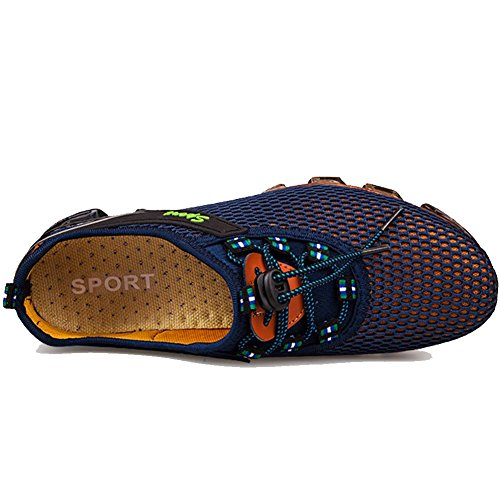 Qiucdz Herren Sneaker Herren Breathable Lightweight Dämpfung Walking Sneaker Klettern Jogger Schuhe Navy Blau