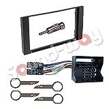 Autoradio-Montage-Set für Ford Galaxy / Fiesta / Focus / C-Max / S-Max / Transit Rahmen, Radio-Fassade, 2DIN Adapter ISO