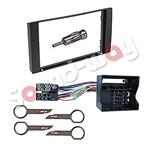 Kit montage autoradio pour FORD GALAXY / FIESTA / FOCUS / C-MAX / S-MAX / TRANSIT cadre de radio façade 2 din adaptateur ISO