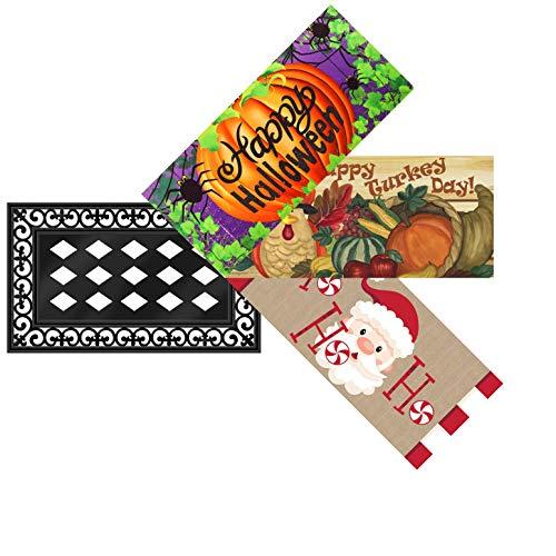 Evergreen Seasonal Dekorative Matte und Tablett Halloween/Thanksgiving/Christmas (Orte, Um Einladungen)