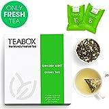 Teabox Ginger Mint, tè verde indiano, 40 g, 16 bustine TeaPacs | Basso contenuto di caffeina, ricco di antiossidanti | Ingredienti naturali:tè verde, zenzero, menta, citronella