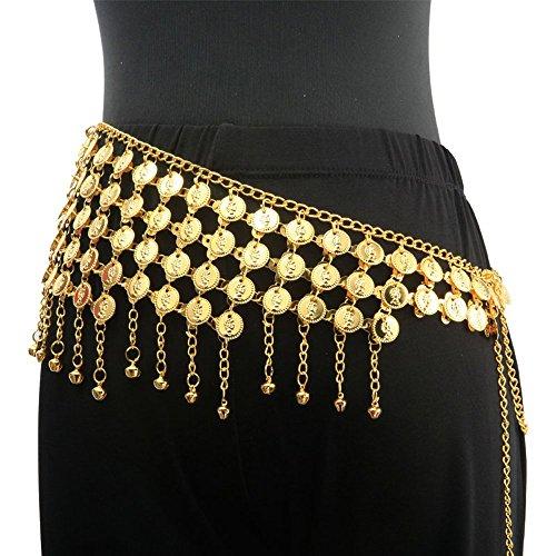 Tanzen Accessories indisch Tanzen Tribal Bauchtanz Schal Wickeln Gürtel Münzen Glocken Kostüm