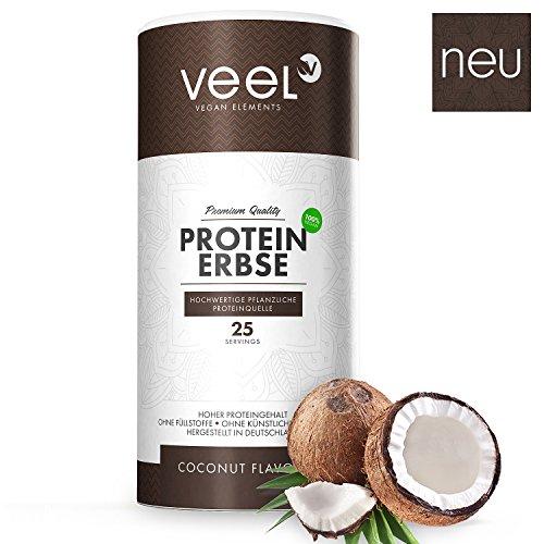 Vegan Protein aus Erbsenprotein Isolat | Hochwertiger Eiweiß-Shake pflanzlich mit essentiellen Aminosäuren | Proteinpulver Glutenfrei, Laktosefrei & Halal | Qualität aus Deutschland – 750g COCONUT