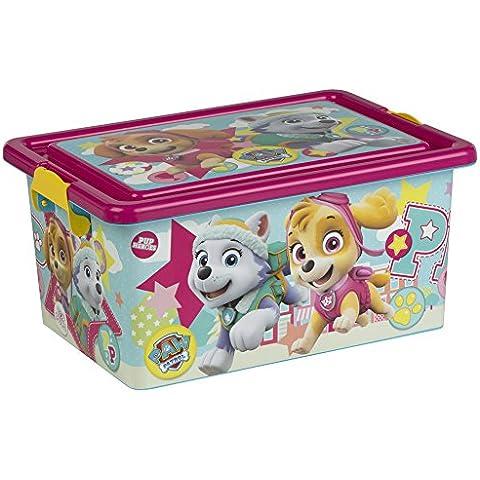 ColorBaby - Caja ordenación Skye & Everest, Paw Patrol, 13 litros, 38 x 27 x 18 cm (76765)