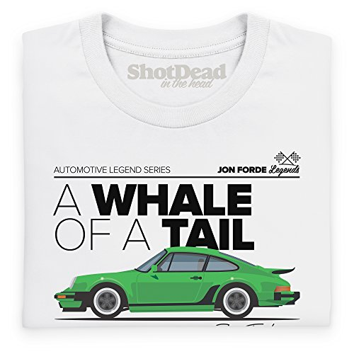 Jon Forde Whale Of A Tail T-Shirt, Herren Wei