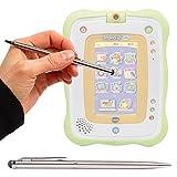 Duragadget Stylet Tactile Gris métal 2 en 1 pour Tablette VTech Storio 2 Baby pour...