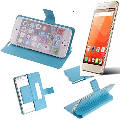 K-S-Trade Flipcover für Haier Leisure L56 Schutz Hülle Schutzhülle Flip Cover Handy case Smartphone Handyhülle blau