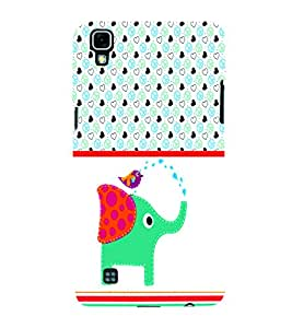 PrintVisa Animal Elephant Cute Cartoon 3D Hard Polycarbonate Designer Back Case Cover for LG X Power